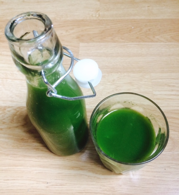 Slik lager dugrønn juice av rester