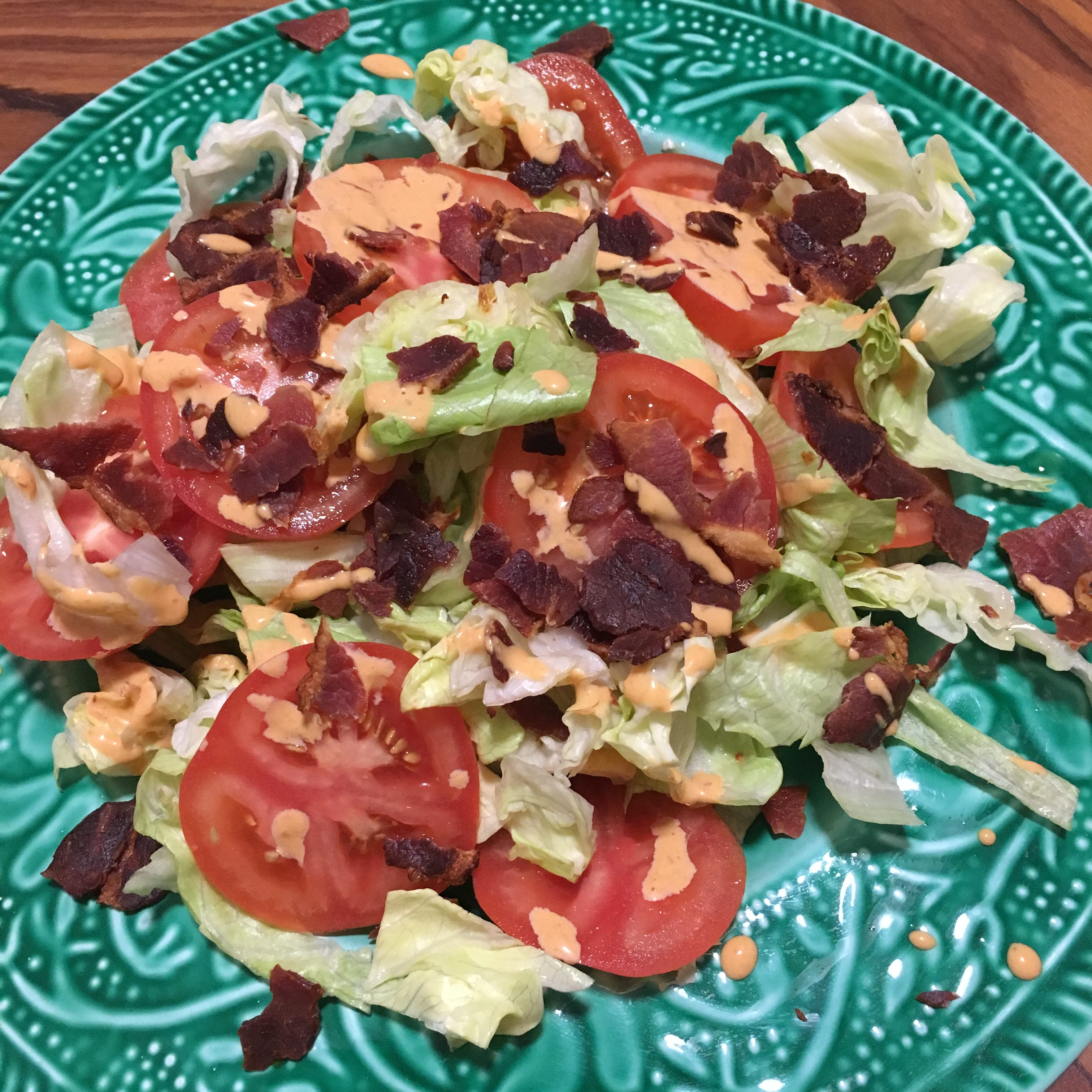 BLT-salat med chipotlemajones