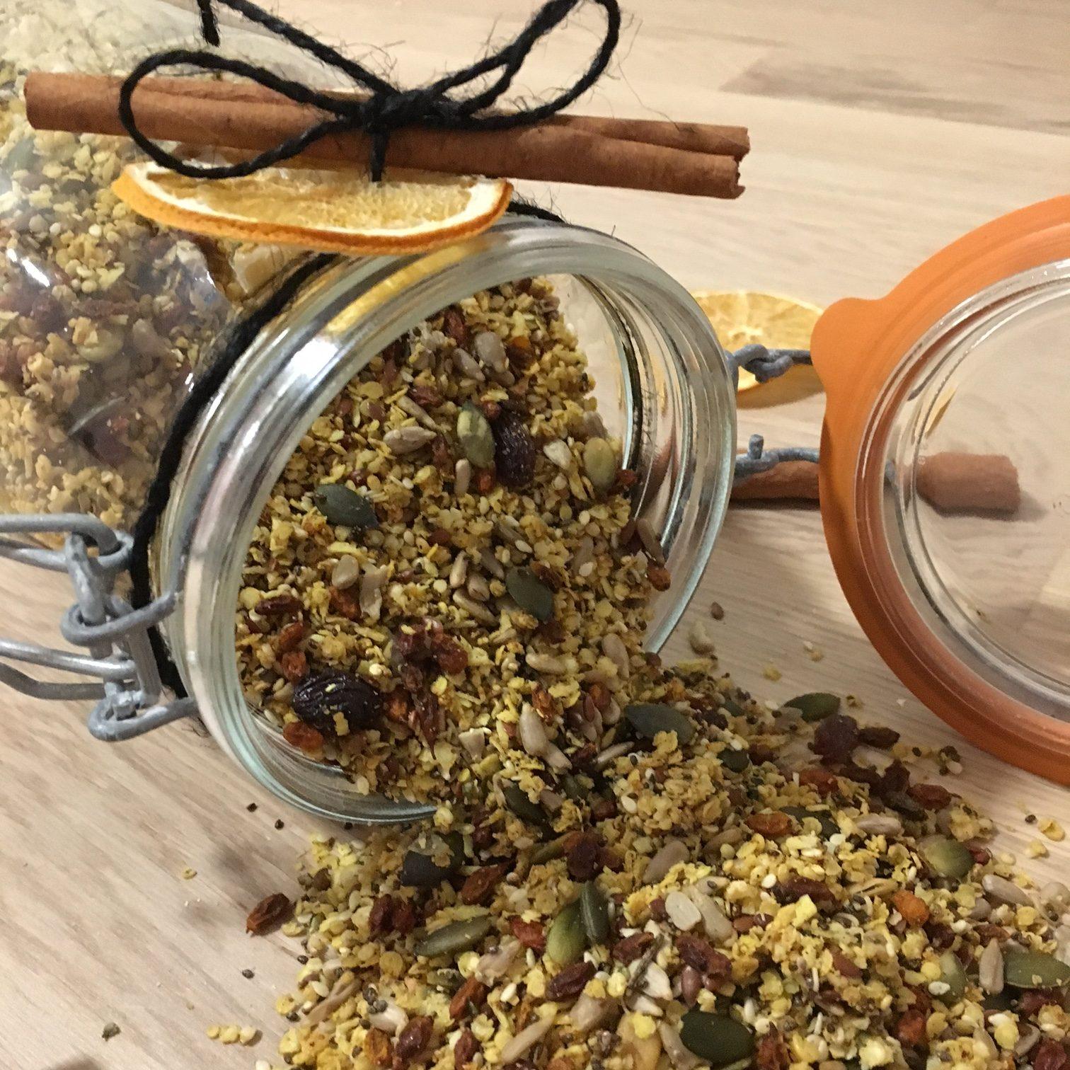 Slik lager du paleo granola med appelsin og julekrydder