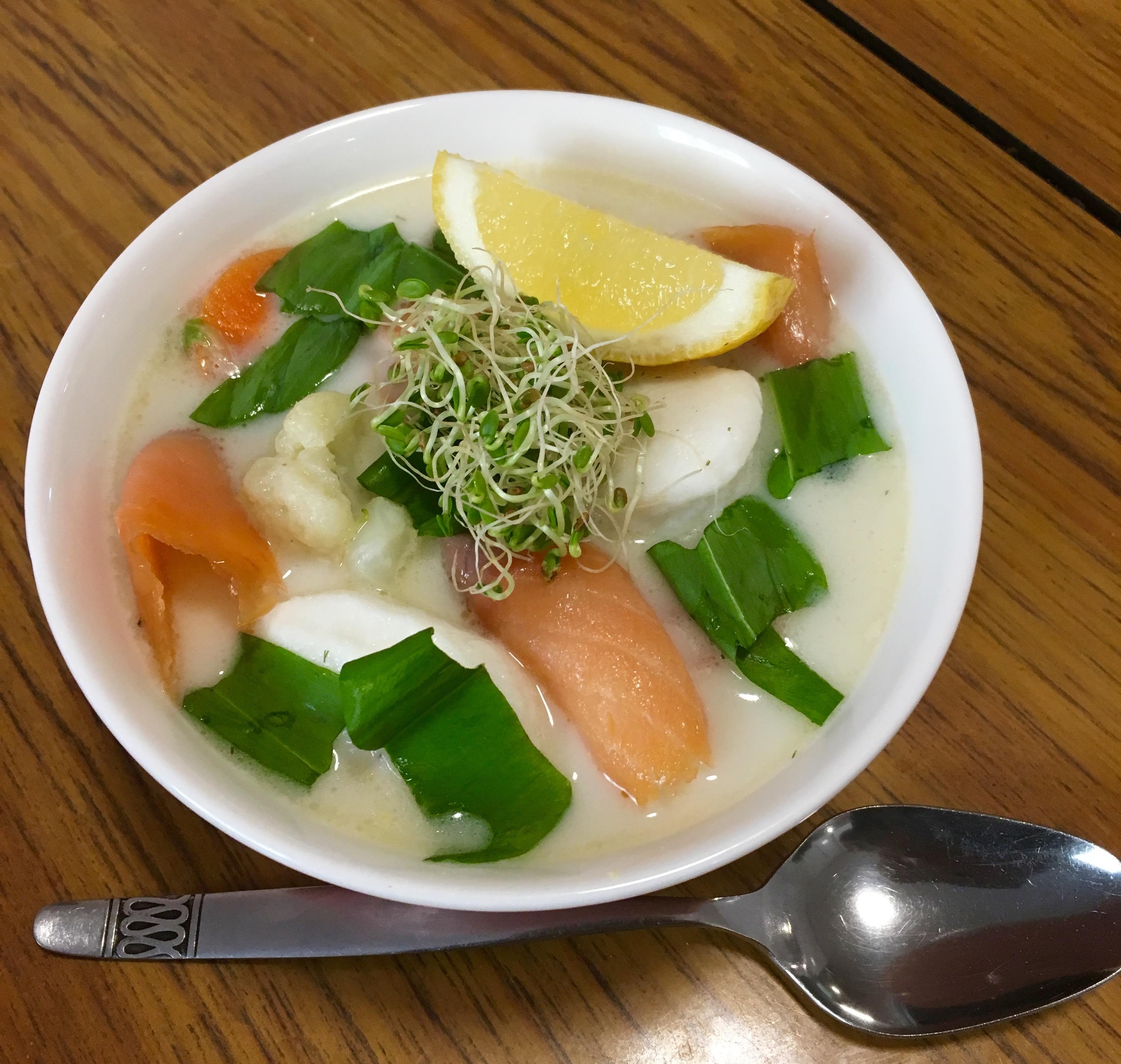 Creamy fiskesuppe uten melk